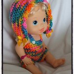 Crochet Baby Alive Bonnet Romper Set