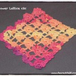 Flower Lattice Corner to Corner (c2c) - Dearest Debi Patterns