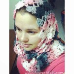 Flower Lattice Infinity Scarf