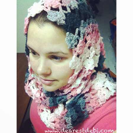 Flower Lattice Infinity Scarf - Dearest Debi Patterns