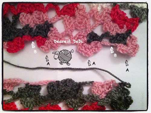 Flower Lattice Infinity Scarf - Dearest Debi Patterns