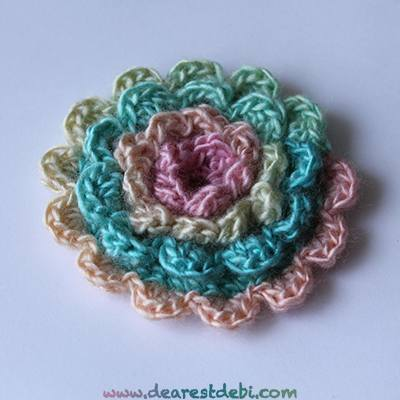 Crochet Layered Flowers Crochet Simple Layered Flower