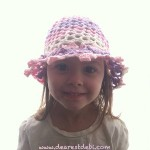 3D Flower Lattice Sun Hat