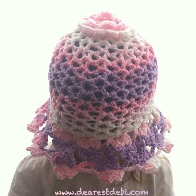 3D Flower Lattice Sun Hat - Dearest Debi Patterns