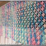 Crochet Flower Lattice Curtain Valance