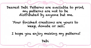 Dearest Debi Pattern Policy