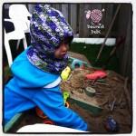 Star Burst Crochet Hood