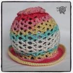 3D Sun Flower Hat Newborn - Dearest Debi Patterns