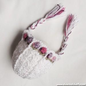 Crochet Flower Girl Bonnet - Dearest Debi Patterns