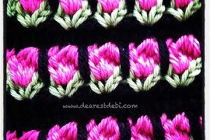 Tunisian Crochet Roses - Dearest Debi Patterns