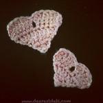 Crochet Heart Scraps Appliqués - Dearest Debi Patterns