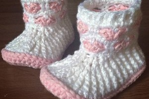 Cupids Sweet Hearts Crochet Booties