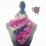Crochet Love Triangle Shawl