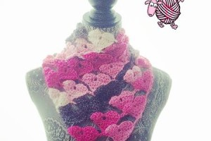 Crochet Love Triangle Shawl - Dearest Debi Patterns