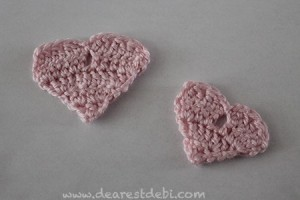 Crochet Heart Scraps Appliqués - Dearest Debi Patterns