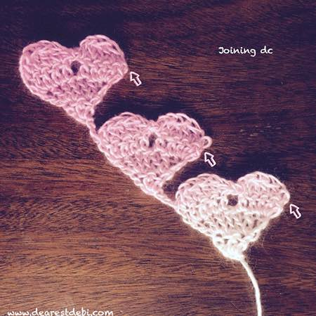 Crochet Love Triangle Shawl (Joining dc) - Dearest Debi Patterns