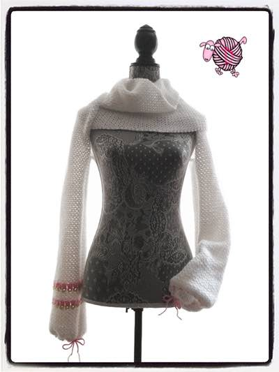NeverEnding Crochet Scarf Shrug - Dearest Debi Patterns