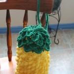 Tunisian Crochet Pineapple Bag