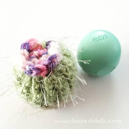 Lip Balm Crochet Cactus - Dearest Debi Patterns