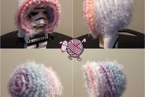 Fuzzy Rainbow Crochet Bonnet - Dearest Debi Patterns