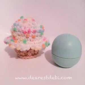 Lip Balm Crochet Cupcake