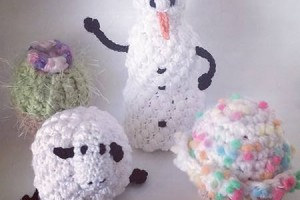 Christmas in July Lip Balm Snowman - Dearest Debi Patterns
