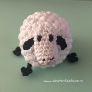 Lip Balm Crochet Ewe