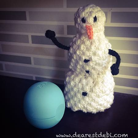 Lip Balm Snowman - Dearest Debi Patterns