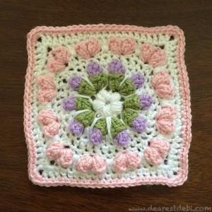 Love Flower Field Square - Dearest Debi Patterns
