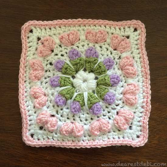Love Flower Field Square - Dearest Debi Patterns