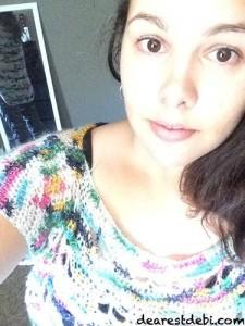Crochet Butterfly Glitz Pullover