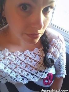 Crochet Flower Lattice Pullover Shrug