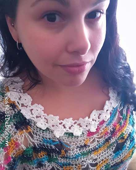 Crochet Flower Lattice Collar - Dearest Debi Patterns