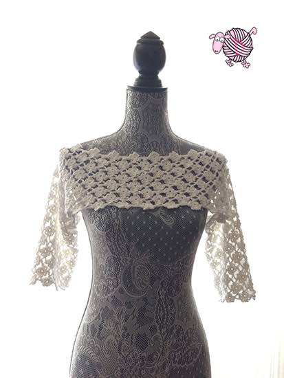 Crochet Flower Lattice Pullover Shrug - Dearest Debi Patterns