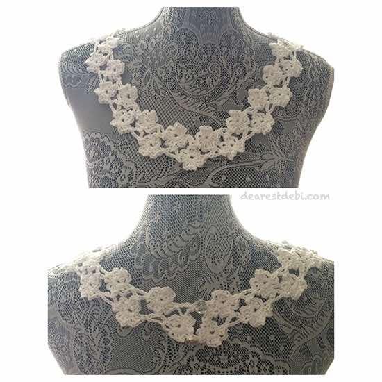Crochet Flower Lattice Collar Dearest Debi Patterns