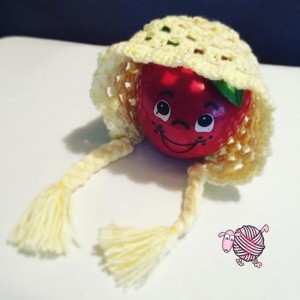 Crochet Sunflower Baby Bonnet