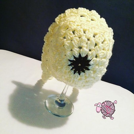 Crochet Sunflower Baby Bonnet - Dearest Debi Patterns