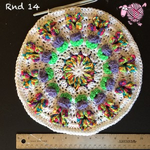 Butterfly Garden Octagon Round 14 - Dearest Debi Patterns
