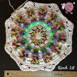 Butterfly Garden Octagon Round 15 - Dearest Debi Patterns