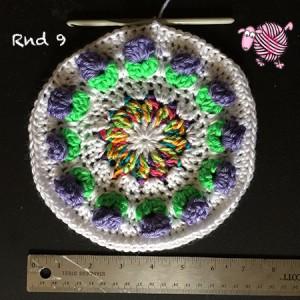 Butterfly Garden Octagon Round 9 - Dearest Debi Patterns