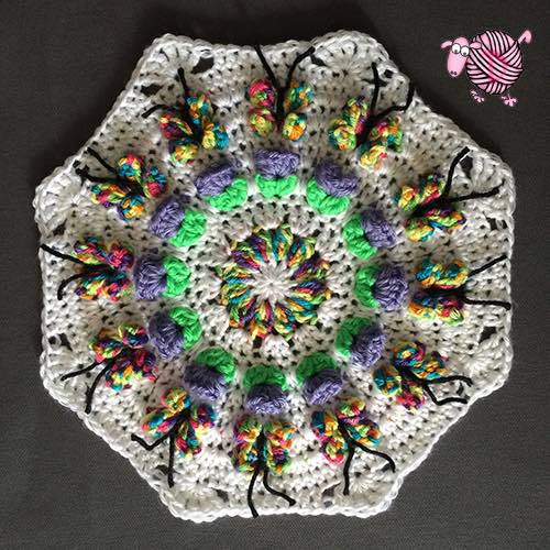 Crochet Butterfly Garden Octagon - Dearest Debi Patterns