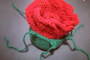 Lip Balm Crochet Rose