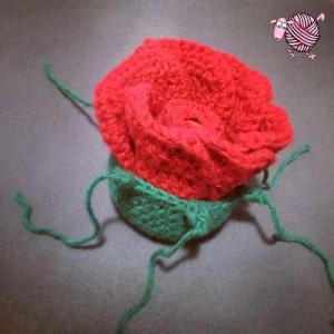 Lip Balm Crochet Rose