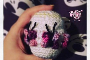 Crochet Butterfly Easter Egg