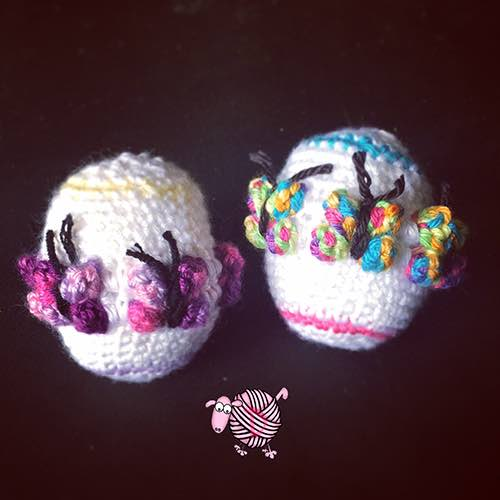 Crochet Butterfly Easter Egg - Dearest Debi Patterns