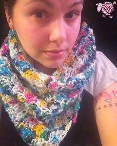 Crochet Lazy Shell Scarf Shawl
