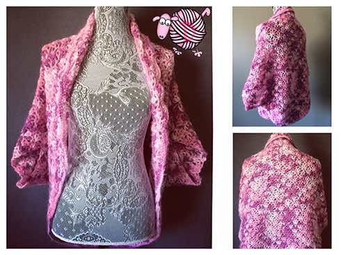 Crochet Lazy Shell Sweater Shrug- Dearest Debi Patterns