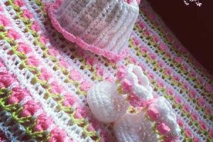 Crochet Little Miss Flower Booties
