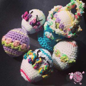 Spring Picnic Basket & Easter Eggs - Dearest Debi Patterns