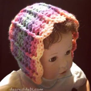 Autumn Sky Bonnet - Dearest Debi Patterns